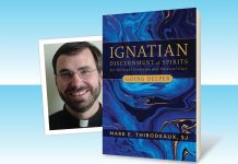 Ignatian Discernment of Spirits in Spiritual Direction and Pastoral Care by Mark E. Thibodeaux, SJ - book cover and author photo