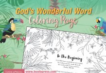 God's Wonderful Word coloring page