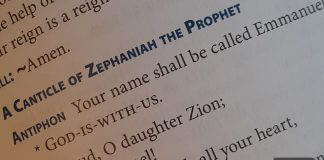 "Zephaniah 3:14-17 page from ""A Book of Marian Prayers"""
