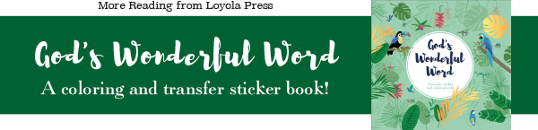 God's Wonderful Word - A transfer sticker and coloring book