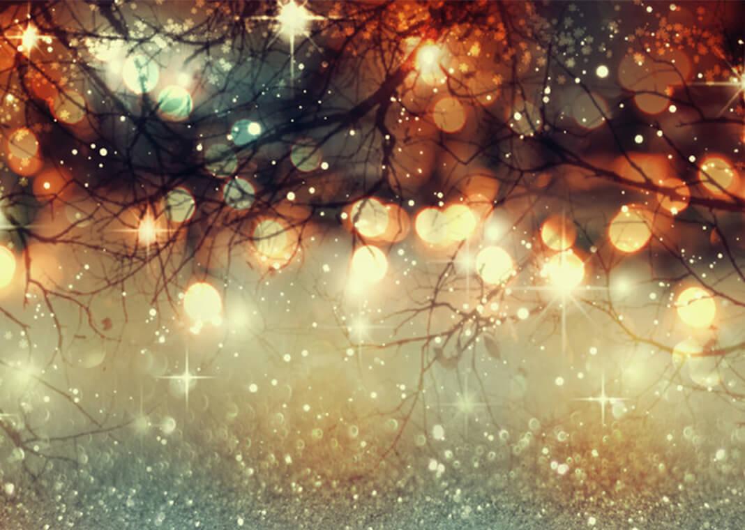 Christmas lights sparkling