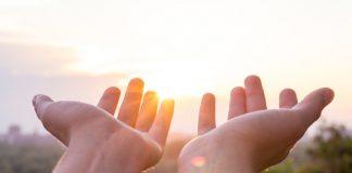 open hands evoking trust