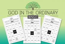 God in the Ordinary Bingo Cards