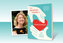 The Ignatian Guide to Forgiveness - book cover and photo of author Marina Berzins McCoy