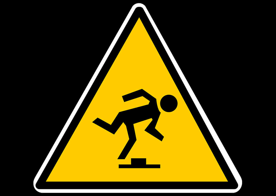 stumbling block - caution sign via Pixabay