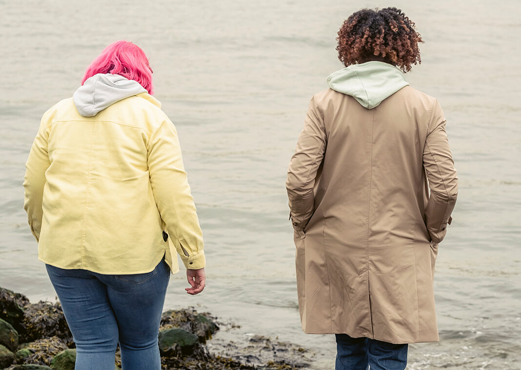women in jackets walking outside together - photo by John Diez from Pexels