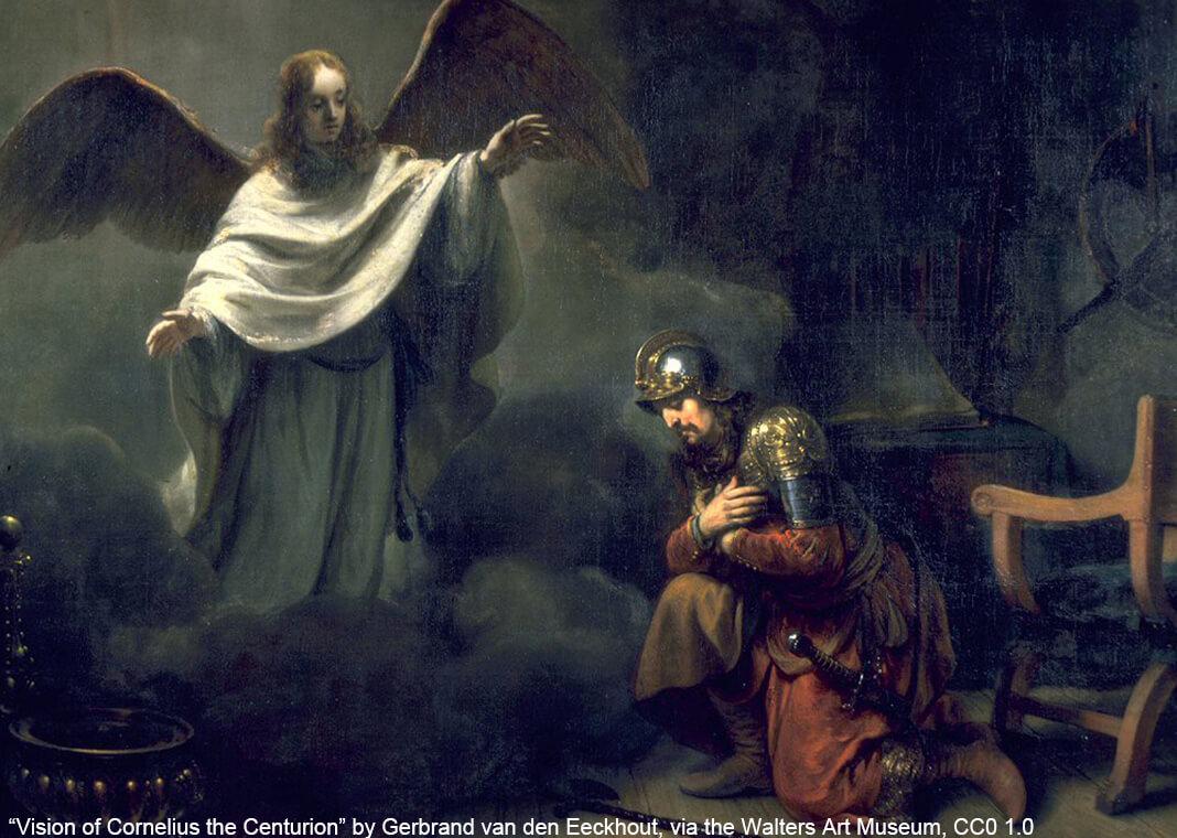 """Vision of Cornelius the Centurion"" by Gerbrand van den Eeckhout - via the Walters Art Museum - under CC0 1.0"