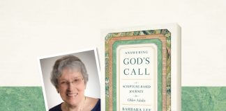 Answering God's Call: A Scripture-Based Journey for Older Adults by Barbara Lee - book cover and author photo