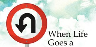 When Life Goes a Different Direction - text next to U-turn sign
