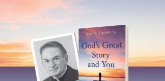 God's Great Story and You by William A. Barry, SJ - book cover and author photo