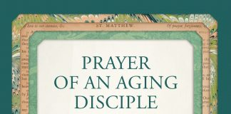 """Prayer of an Aging Disciple - text on art inspired by cover of book """"Answering God's Call"""" by Barbara Lee"""