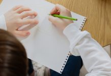 middle-school boy drawing - photo by Artem Podrez from Pexels